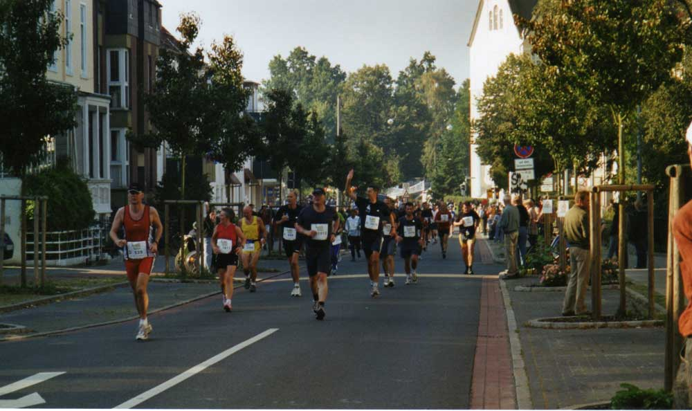 Nach ca. 14 Kilometern - Bremen-Marathon 2005