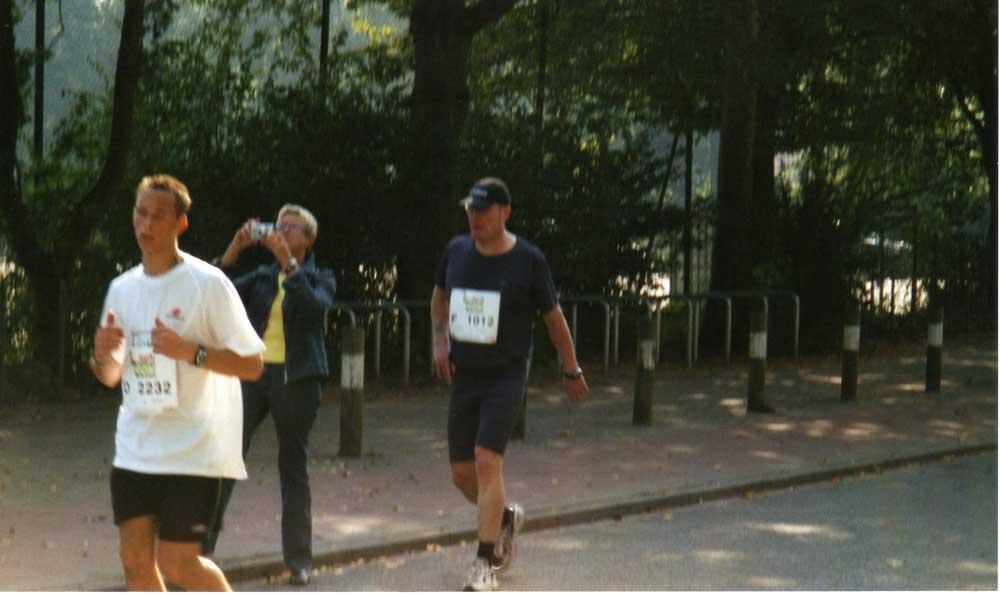 Völlig ausgepumpt - Bremen-Marathon 2005