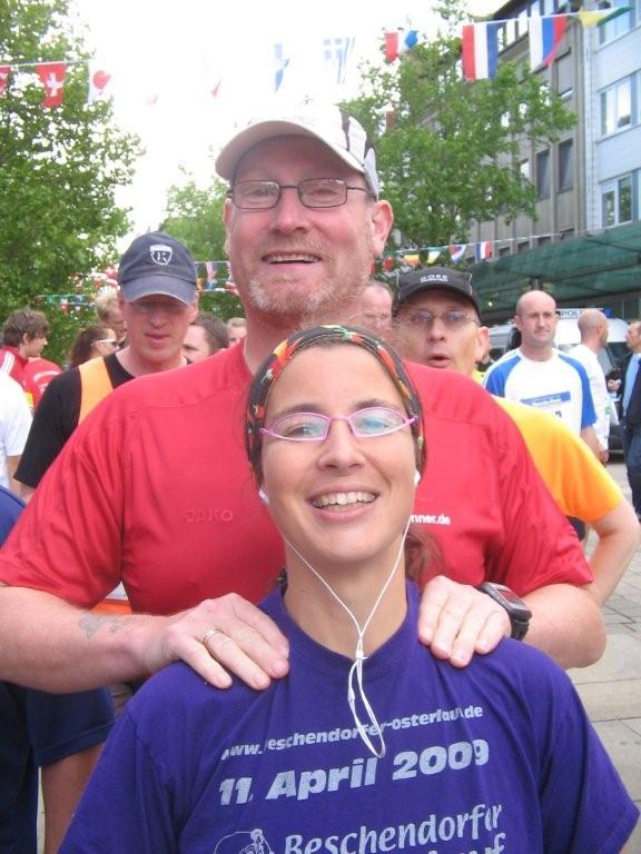Massage vor dem Bremerhaven-Marathon 2009