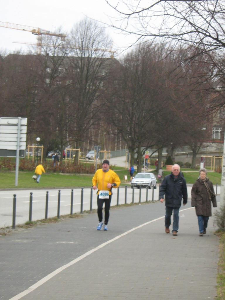 Man sieht den Kampf - Kiel-Marathon 2008