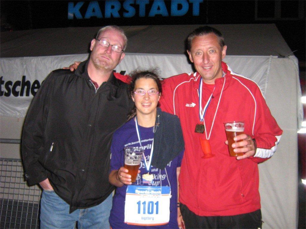 Das obligatorische Nachher-Foto Bremerhaven-Marathon 2009
