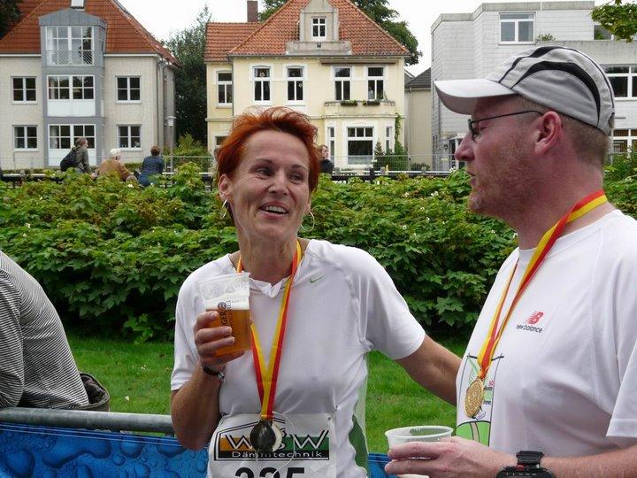 Die anschließende Fachsimpelei - Oldenburg-Marathon 2008