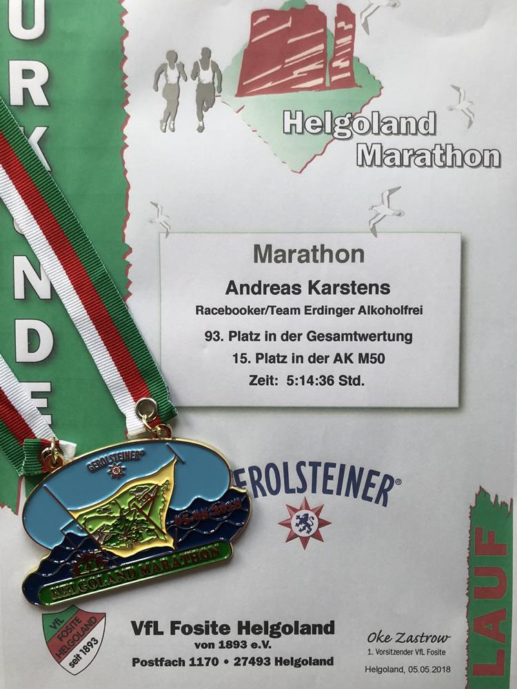 Helgoland-Marathon 2018